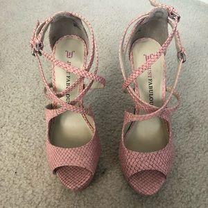 JustFab Strap Platform Sandals